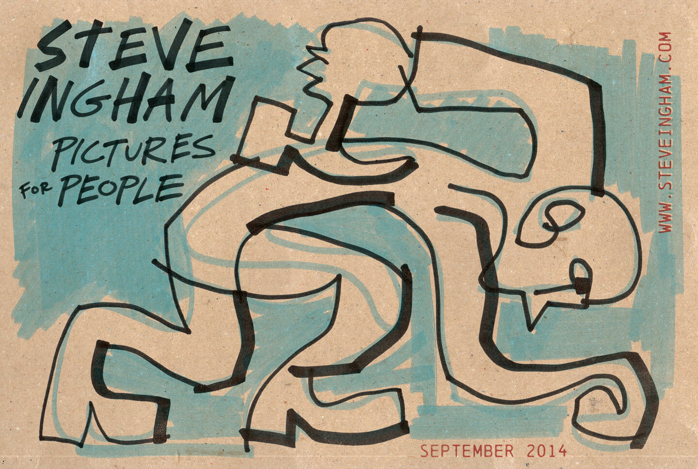 Steve Ingham, live drawing performance. Creatività per l'Innovazione | Ex-Magazzini Generali, Verona , 2014