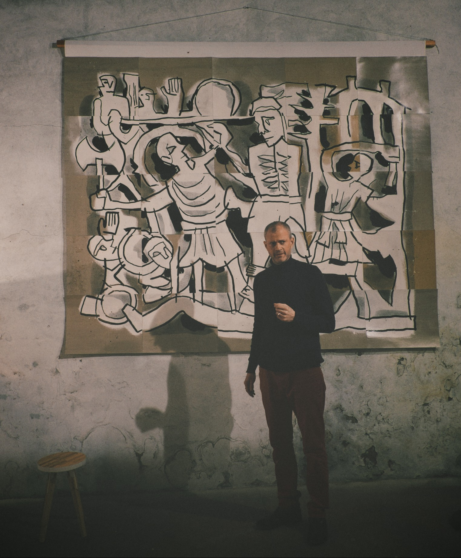 Steve Ingham, Centauromachy and The Romans. Photo by Giovanni Bertani