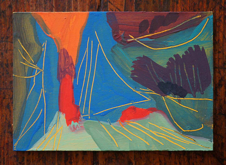 Steve Ingham, Roccia. Acrylic on masonite.