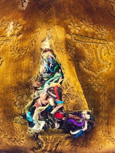 Velvet and yarn
