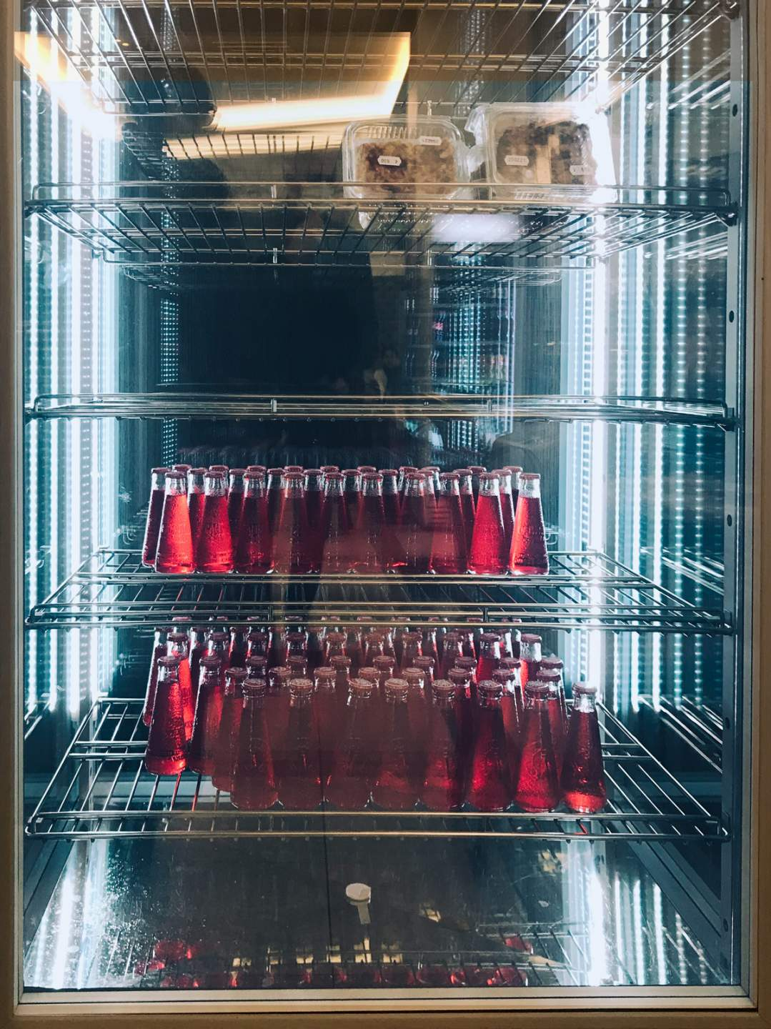 Infinity mirror with campari